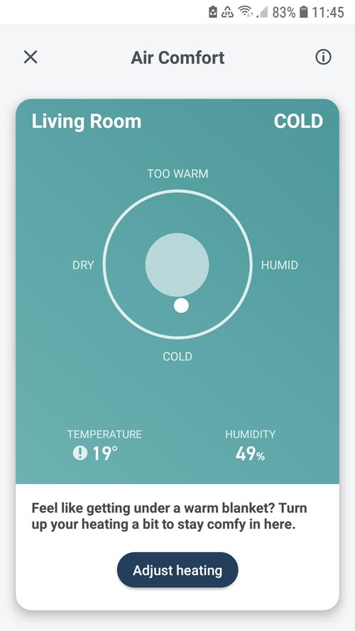 tado° App - Room air comfort in your respective rooms