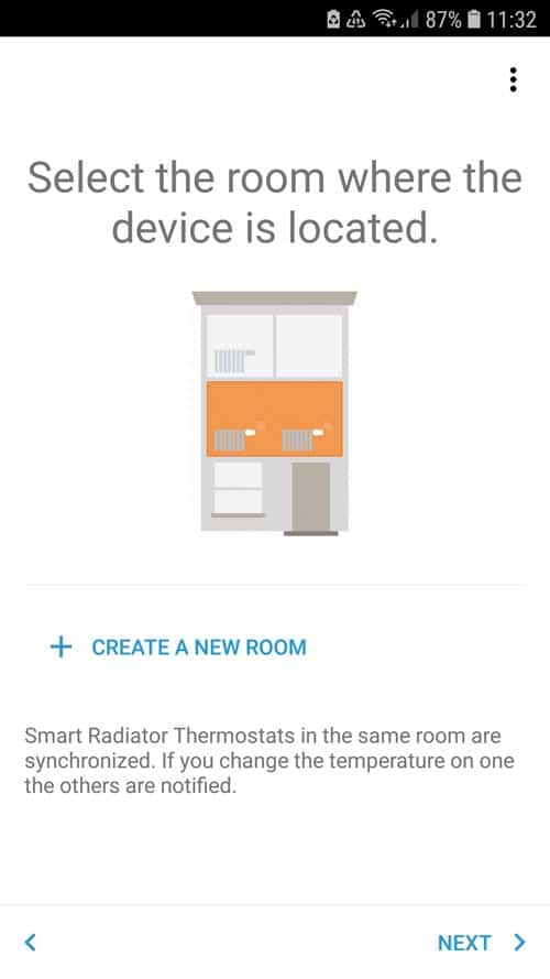 Create a room and assign the tado° thermostat