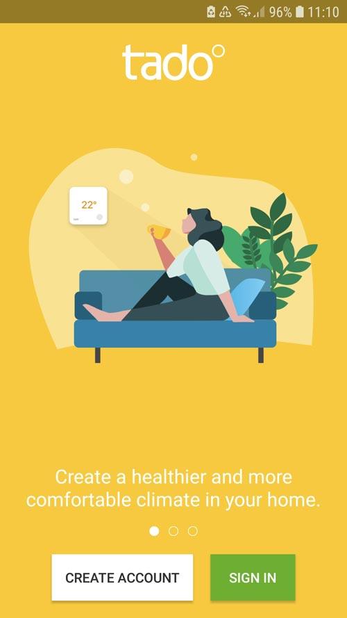 tado° App Create user account