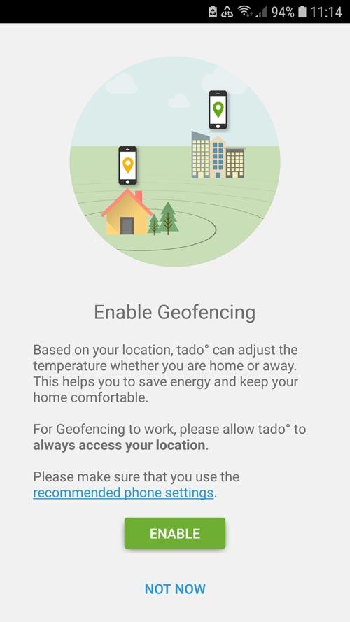 tado° App Activate Geofencing