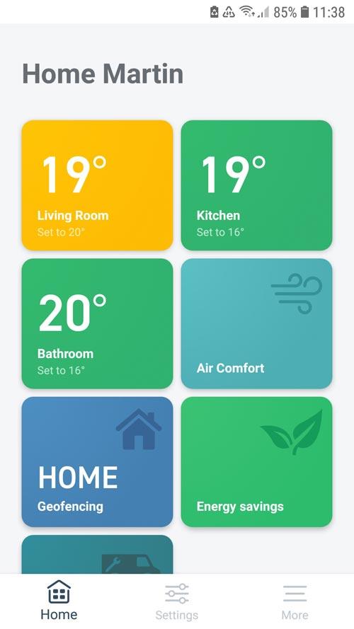 tado° App - home screen