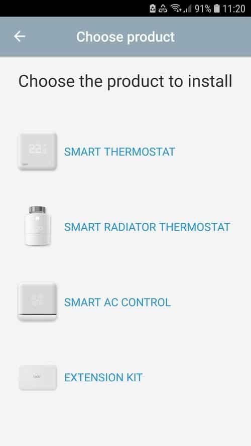 tado° App Add smart radiator thermostat