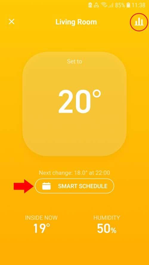 tado° App - Living room overview