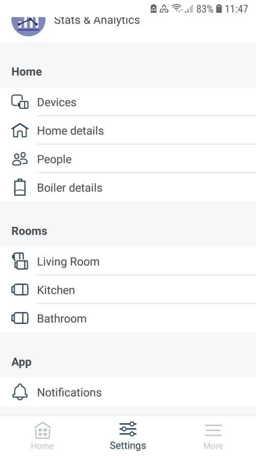 tado° App - Settings at home, rooms, app
