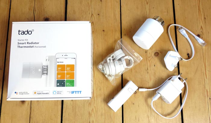 Figure 5: tado° Starter Kit with Internet Bridge and smart thermostat