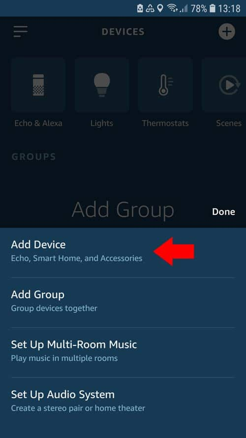 Alexa App - tado° Add device
