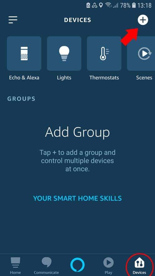 Alexa App - tado° Overview devices