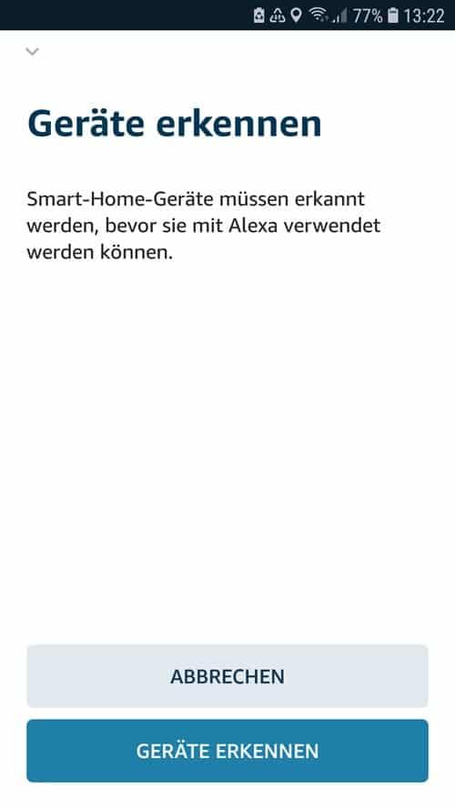 Alexa App - detect tado° devices