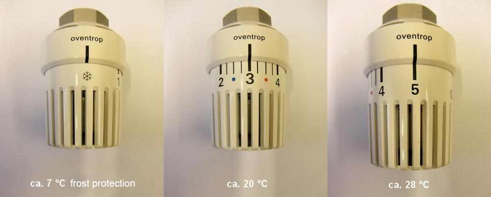 Figure 2: Setting the thermostatic head