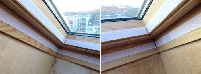 Apply adhesive tape of window sealing