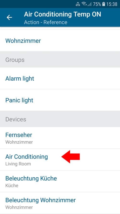 portable air conditioner - Smart Home - Select device