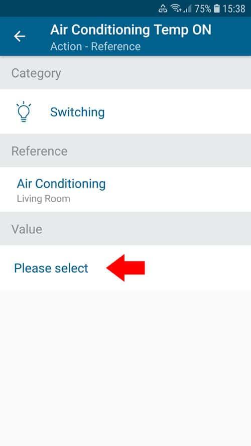 portable air conditioner - Smart Home - Enter value