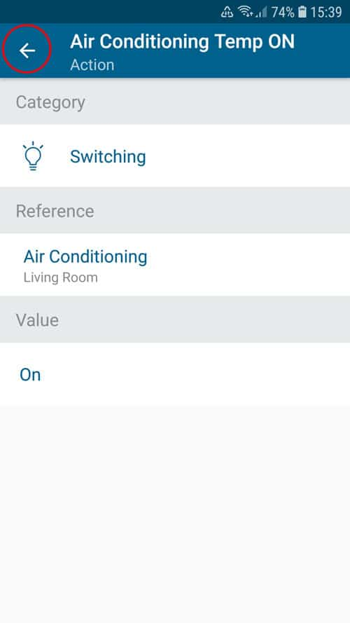 portable air conditioner - Smart Home - Action overview