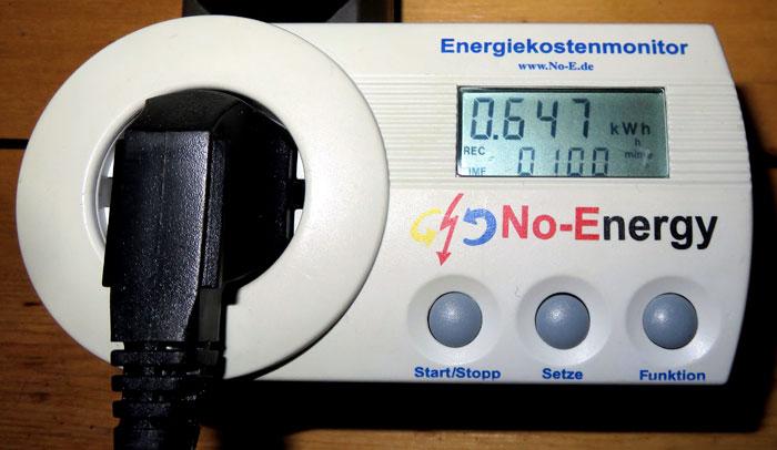 Energy consumption DeLonghi Silent PAC EX100