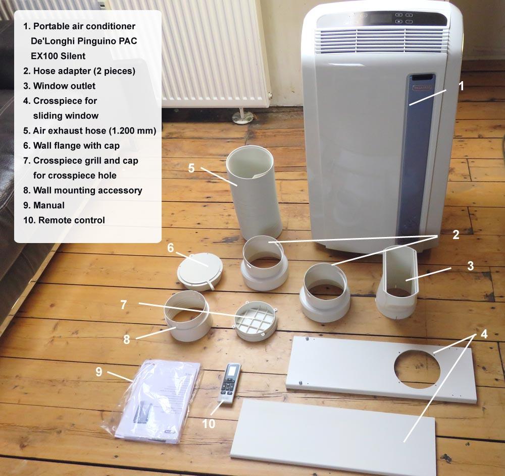 Figure 2: De'Longhi Pinguino PAC AN98 Eco portable air conditioner