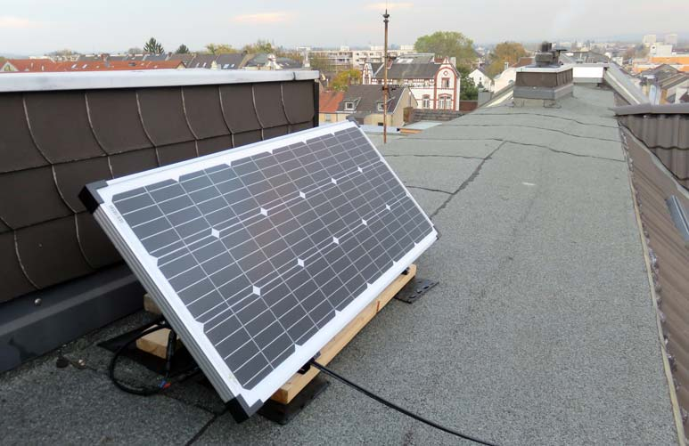 Figure 2: Monocrystalline solar panel from Offgridtec