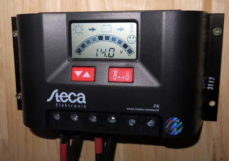 Figure 4: Steca PR 2020 solar charge controller