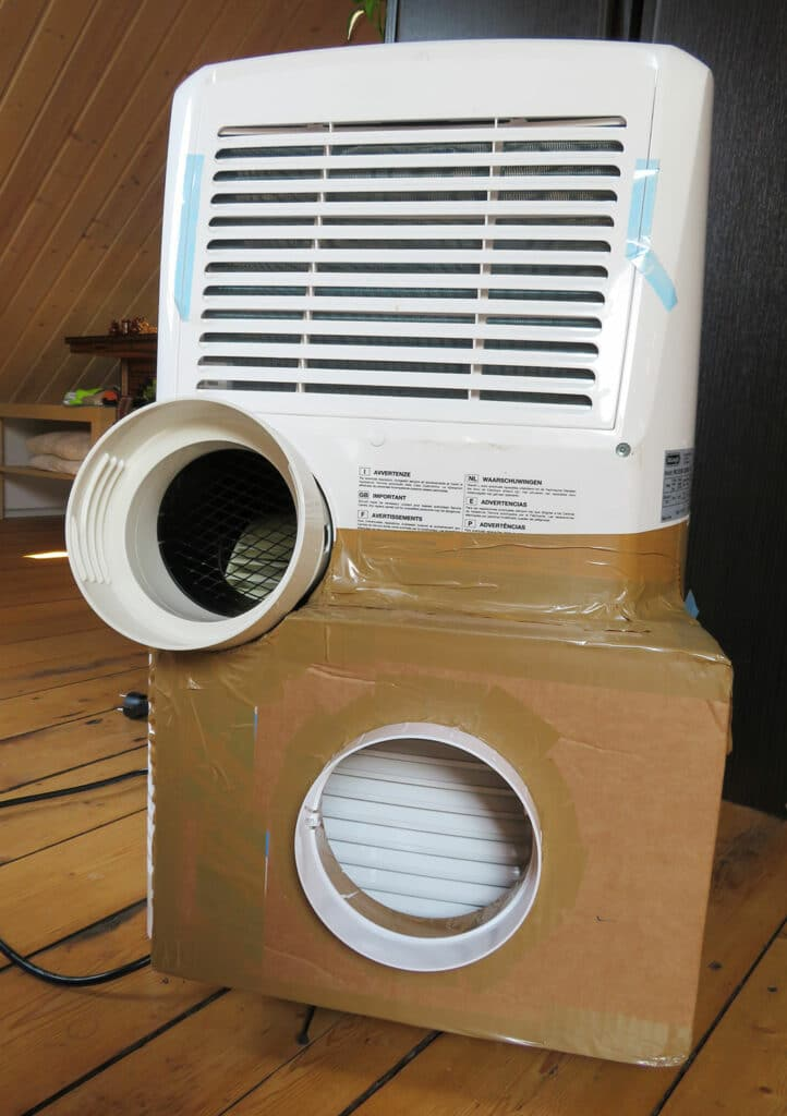 Modification portable air conditioner - Finished two-hose air conditioner - 02