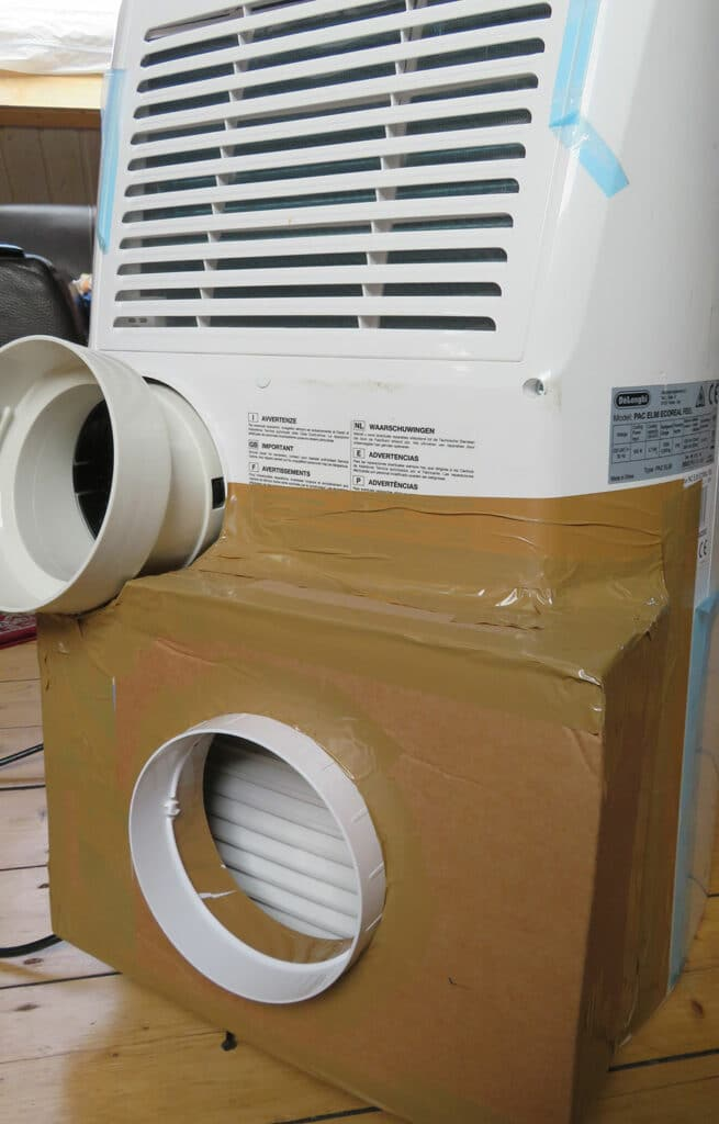 Modification portable air conditioner - Finished two-hose air conditioner - 01