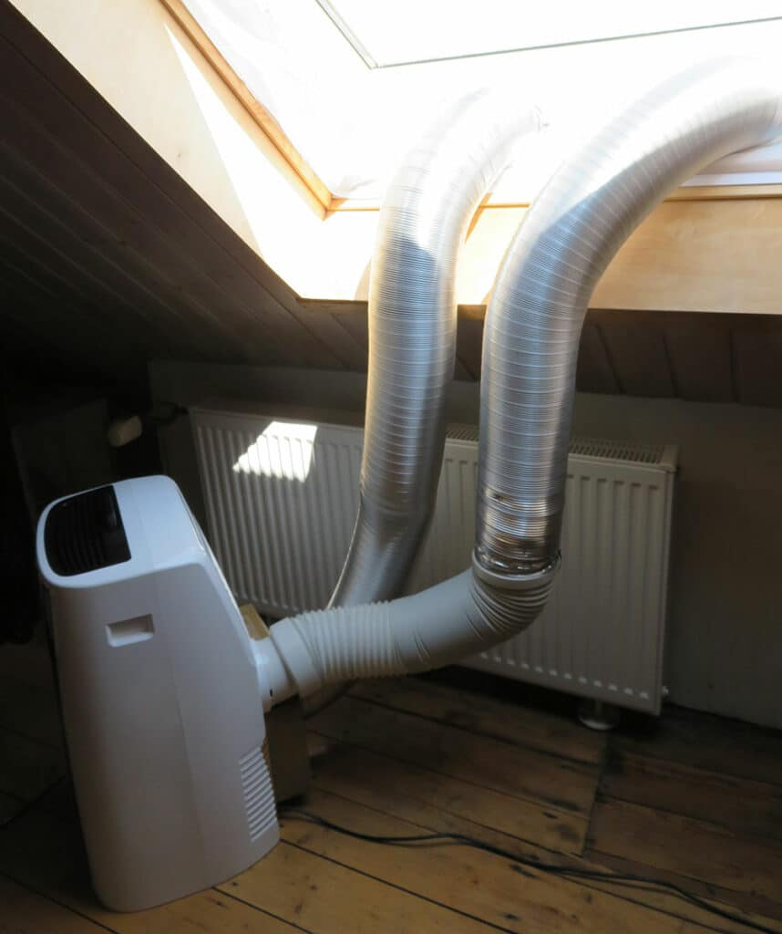 Modification portable air conditioner - Ready-made two-hose air conditioner with hoses
