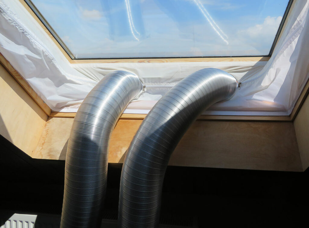 Modification portable air conditioner - Ready-made two-hose air conditioner - Hoses out of the window