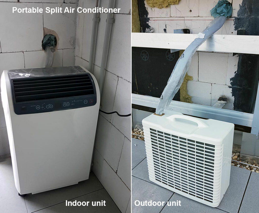 Portable split air conditioner